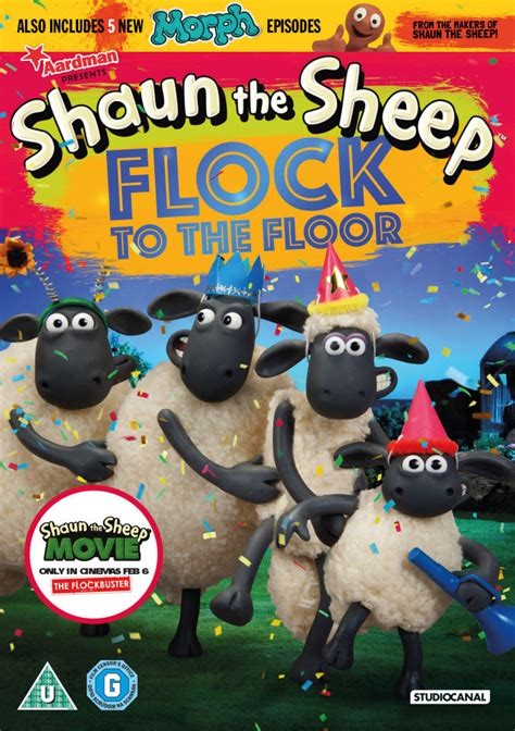 shaun  sheep flock   floor dvd zavvi