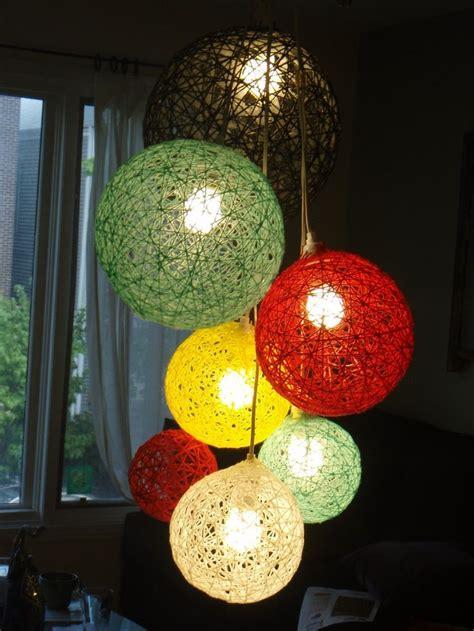 diy yarn ball craft ideas diy chandelier diy yarn
