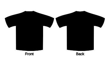 black t shirt template black t shirt template clipart best