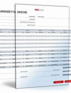 überstunden Berechnen Excel Vorlage : stundenzettel als wochen bersicht muster vorlage zum download ~ Themetempest.com Abrechnung