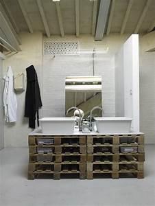 7 idees deco de mobilier avec des palettes With meuble salle de bain loft