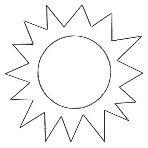 sun template free printable sun cut out templates plants and gardens template free printable