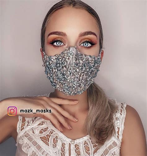 face sparkly masks covering glam mask covid silk coverings wear wallflower embroidered simply hand want