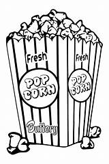 Popcorn Corn Coloring Drawing Clipart Bucket Template Boxes Pop Sheets Saturday Tlc Snack Colored Bowl Printables Createwithtlc Printable Stamps Clip sketch template