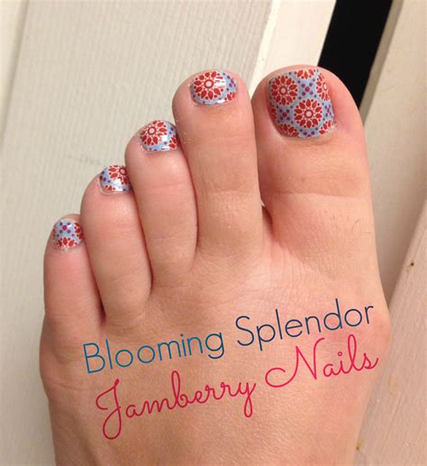 blooming splendor jamberry nails review joyful musings
