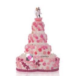 montee mariage pièce montée mariage roses wedding cake gâteau de mariage gateaucreateur fr