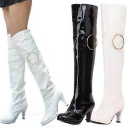 womens thigh high boots size 9 high heels mens womens look knee boots plus size 8 9 10 11 ebay