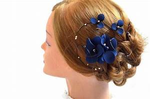 Floral Headpiece Navy And Gold Fascinator Bridal Hair