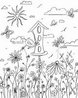 Coloring Pages Bird Adult Adults Whimsical Birdhouse Printable Houses Flowers Books Garden Madart Template Craft Colouring Sheets Designs Getcolorings Studios sketch template