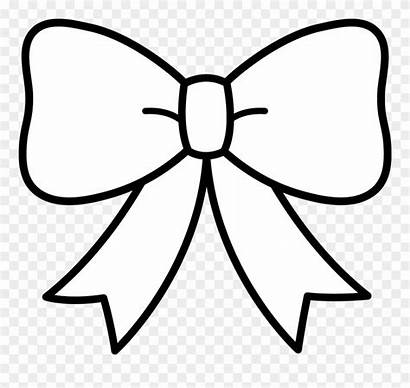 Bow Ribbon Clipart Clip Tie Coloring Cheer