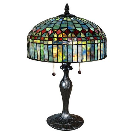 paul sahlin tiffany  tiffany cathedral table lamp