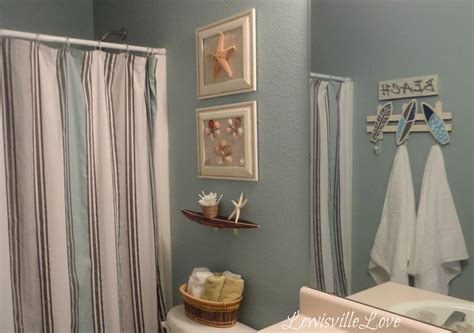 Lewisville Love Beach Theme Bathroom Reveal