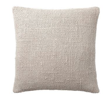 Faye Textured Linen Pillow Cover - Flax