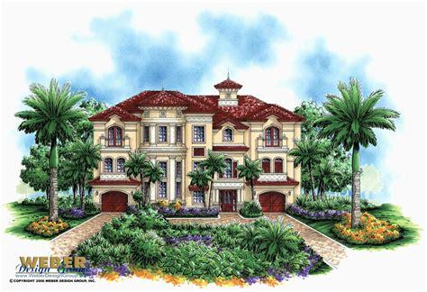 Narrow Beach Single Story Mediterranean House Plans