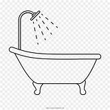 Tub Drawing Coloring Bathtub Bathroom Template Sketch Pages Templates Kisspng Cleanpng sketch template