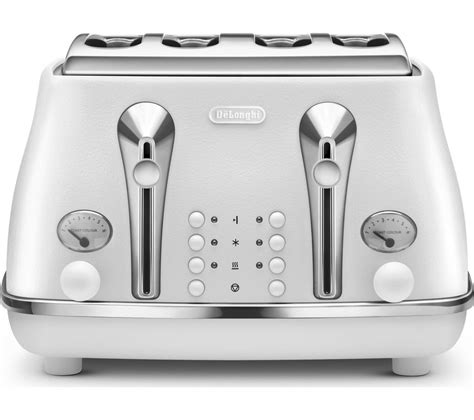 Delonghi 4 Slice Toaster by Buy Delonghi Elements Ctoe4003 W 4 Slice Toaster White