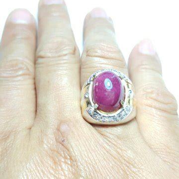 jual 03 cts natural ruby corundum cincin perak