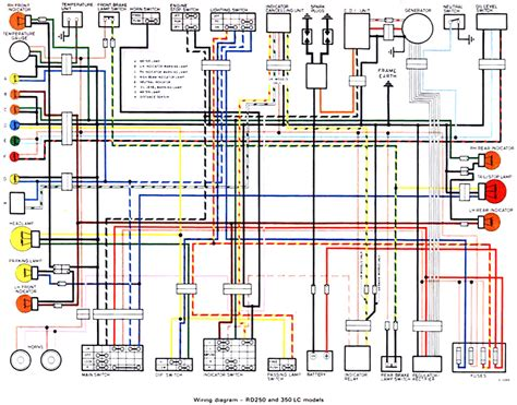 Yamaha R5 Wiring Diagram by 1970 72 Yamaha R5 R5 Wiring Diagrams