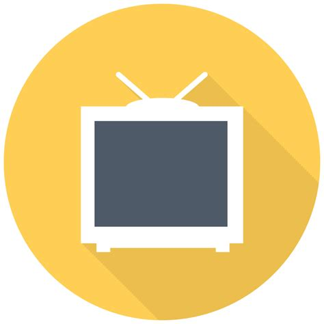 tv icon  flat multimedia iconset designbolts