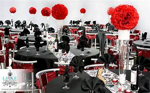 Damask Black Red And White Wedding Ceremony And