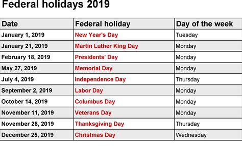 uk federal holidays   holiday calendar school