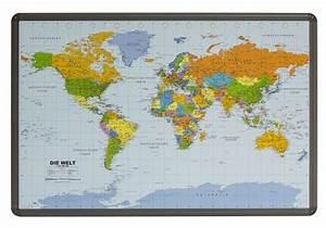 Weltkarte Auf Pinnwand : weltkarte deutsch pinnwand mit alurahmen 90 x 60cm kork pinnw nde pinnwand magnetwand ~ Markanthonyermac.com Haus und Dekorationen