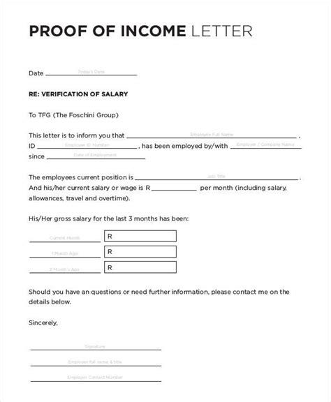 income verification letter unique income verification letter cover letter exles 9607