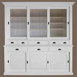 Vaisselier En Pin : vaisselier blanc portes coulissantes salle manger comparer les prix sur ~ Teatrodelosmanantiales.com Idées de Décoration