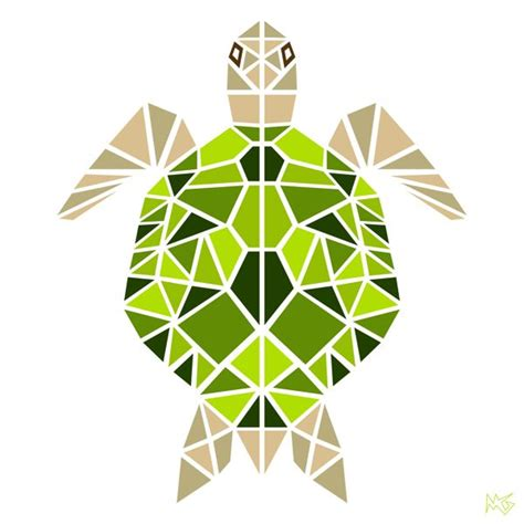 geometric animals  behance paint chip art geometric