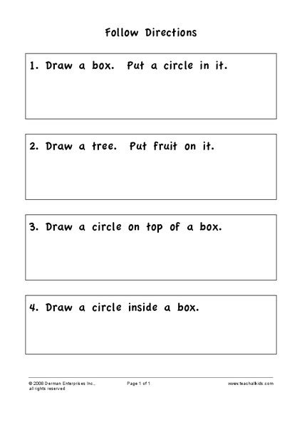 follow directions worksheet for 2nd grade lesson planet