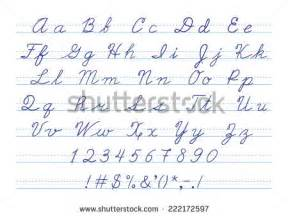 Cursive Letters and Numbers