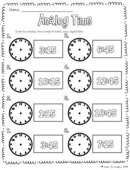 telling time math unit  images math time