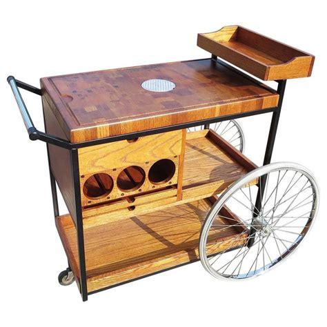bill w sanders 1964 rolling bar cart or trolley the