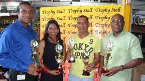 trophy stall sponsors gssf inaugural practical pistol match kaieteur news