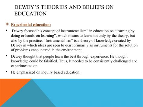 john dewey   education philosophy