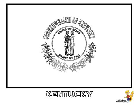 Kentucky State Flag Coloring Page - Sanfranciscolife