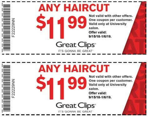 great clip haircut coupons great uw student survival kit 5462