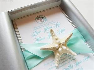 beach wedding invitations florida destination wedding With starfish wedding invitations in a box