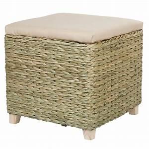 Coffre De Jardin Gifi : pouf coffre osier beige vert salon mobilier gifi ~ Dailycaller-alerts.com Idées de Décoration