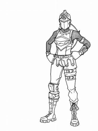 Fortnite Skin Coloring Pages Drawing Hand Printable