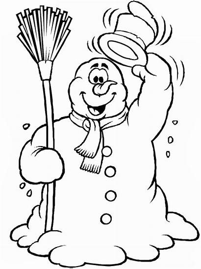 Coloring Winter Pages Clip Printable Filminspector