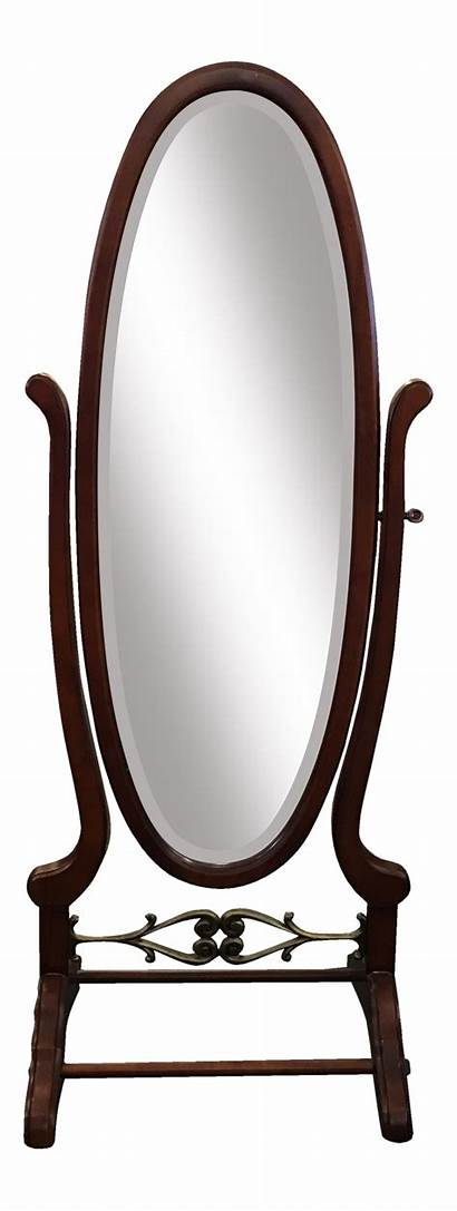 Mirror Clipart Floor Transparent Oval Mahogany Webstockreview
