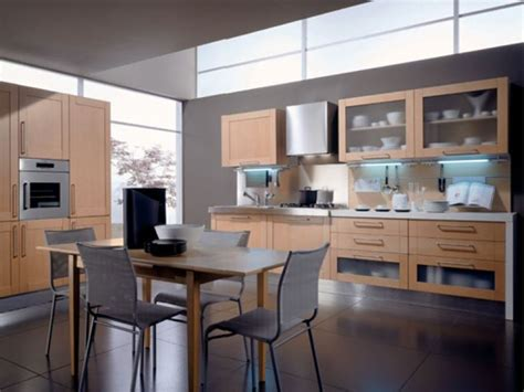 Small Kitchen With Minimalist Dining Table  4 Home Ideas