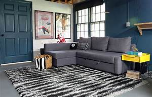 an ikea friheten sofa comes to live in our basement With basement sofa bed