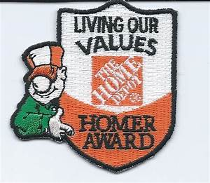 LMH PATCH BADGE HOME DEPOT UNIFORM HOMER AWARD LIVING OUR ...