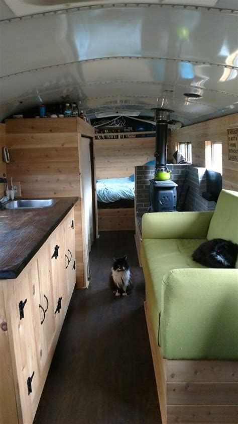 203 sq. ft. Off Grid New Hampshire Skoolie Cabin (For Sale)