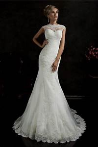 high neck lace mermaid wedding dress naf dresses With high neck lace wedding dress