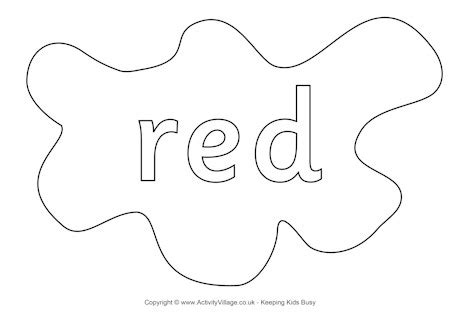 red colouring page splats