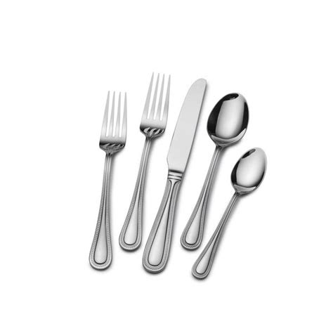 flatware stainless steel st james bead euro piece sets