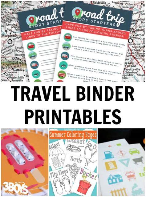 travel binder printables  kids  boys   dog